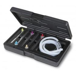 Bromsluftningssats 6 delar, bromsrörsnycklar 7-11mm, slangar, plastväska, proffesionell använding, Beta Tools