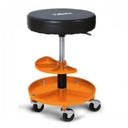 Verkstadsstol, rund pall med hjul, Beta Tools