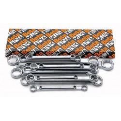 Ringnyckelsats, platta, 8st, 6x7mm-20x22mm, Beta 95