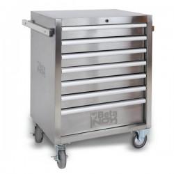 Verktygsvagn av rostfritt stål, 7 lådor, Beta Tools