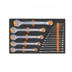 Verktygstråg M01 blocknycklar, Beta Tools -  Single modules in soft foam tray with tools