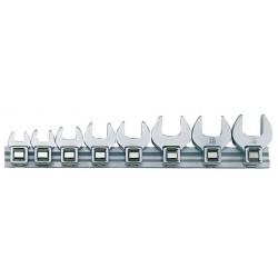 """U-nycklar 6-19mm med fyrkantiga hylsfästen 3/8"""", sats 8 st, Teng Tools"""