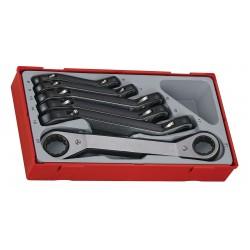Ringspärrnycklar, sats 6 st, bockade, 6-22mm (ringspärrnyckelsats), Teng Tools