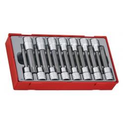 """Hylsbits sats 15st ribe- och XZN-hylsbits, 1/2"""" fyrkantsfäste 100 mm (hylsbitssats), Teng Tools"""
