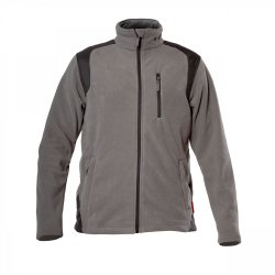 "FLEECE JACKET WITH REINförCEMENT, GREY, "" S"" , CE, LAHTI"