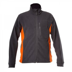 "FLEECE JACKET, GRAPHITE AND ORANGE, "" S"" , CE, LAHTI"