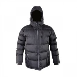 "WINTER COAT, QUILTED, BLACK, "" S"" , CE, LAHTI"
