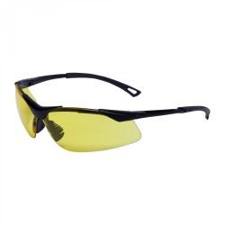 Lätta och moderna gula skyddsglasögon, UV, FT, tunna elastiska bågar