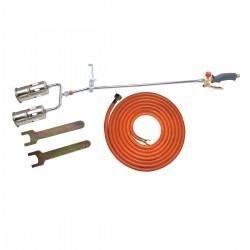 Lödbrännare, sats med 60mm dubbel munstycke, slang 5m, PROLINE