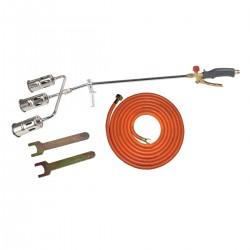 Lödbrännare, sats med 50mm trippel munstycke, slang 5m, PROLINE