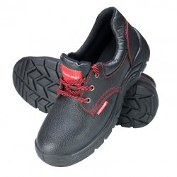 "SHOES, NO TOE CAP, LEATHER, BLACK, O1 SRC , "" 39"" , CE, LAHTI"