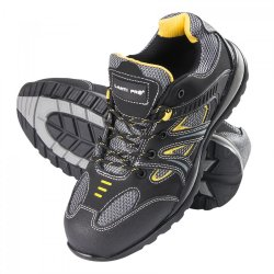 "SHOES, NUBUCKMESH, BLACK-gul, S1P SRA, "" 39"" , CE, LAHTI"