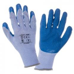 "GLOVES LATEX BLUE-PURPLE L210208  P, 12   PAIRS, "" 8  "" , CE, LAHTI"