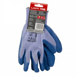 "GLOVES LATEX BLUE-PURPLE L210209P, (butiksförp.), "" 9"" , CE, LAHTI"