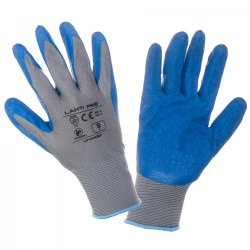 "GLOVES LATEX BLUE-GREY L210407P, 12   PAIRS, "" 7"" , CE, LAHTI"