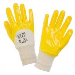 Skyddshandskar 12 par, nitrile handskar, gul-vita,  CE, LAHTI