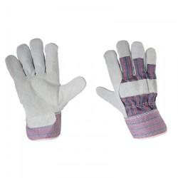 Handskar, st.  10 XL, äkta koskinn och bomull, CE, EN 420, Lahti Pro L2701