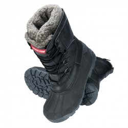 "SNOW BOOTS, HIGH, SYNTHETIC LEATHER, BLACK-GREY, "" 39"" , LAHTI"