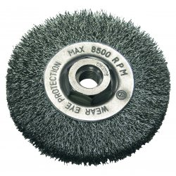 CRIMPED WIRE CUP BRUSH WITH THREADCUP M14, FI=115MM, PROLINE