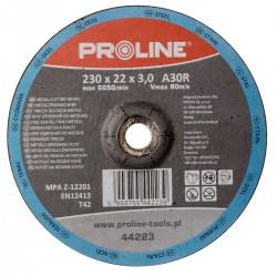 CUTTING DISK för METAL WYP. T42, 230X3.0X22A30R PROLINE