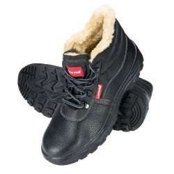 "ANKLE SHOES, INSULATED, LEATH., BLACK, S3 SRC, "" 39"" ,CE,LAHTI"