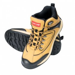 "ANKLE SHOES, NUBUCK, HONEY-BLACK, SB SRA, "" 39"" , CE, LAHTI"