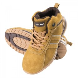 "ANKLE SHOES, SUEDE, HONEY-BROWN, SB SRA, "" 39"" , CE, LAHTI"