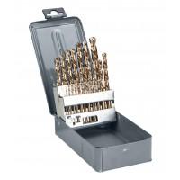 Metallborr HSS-CO (spiralborr), sats 25st 1-13.0mm DIN338,  PROLINE