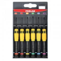 Klockverktyg, precisionsverktyg - sats med små skruvmejslar, Proline