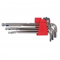 Insexnyckel med klothuvud, sats 9st 1.5-10mm, S2, PROLINE