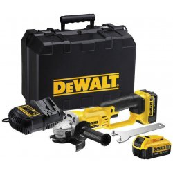 Vinkelslip 125mm XR, 7000rpm 18V 2 batterier, DeWalt
