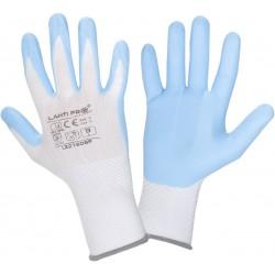 Nitrilhandskar vit-blåa st. 6-11, arbetshandskar CE, LAHTI