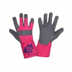 Arbetshandskar, syntetisk läder, svart-rosa, CE, LAHTI