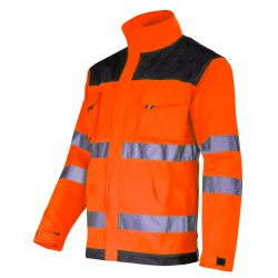 Varseljacka, arbetsjacka svart-orange, CE, LAHTI