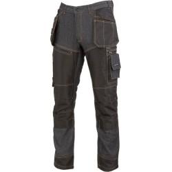 Arbetsbyxor Jeans, svarta förstärkta, CE, LAHTI