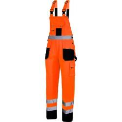 Arbetsbyxor, reflexoverall svart-orange, reflexbyxor, reflexoverall, CE, LAHTI