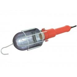 Verkstadslampa av stålhölje, 60W ,IP20