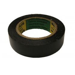 Isoleringstape PVC 19x0.15mm 20 meter svart