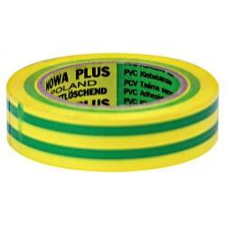 Isoleringstape PVC 19x0.15mm 20 meter gul-grön
