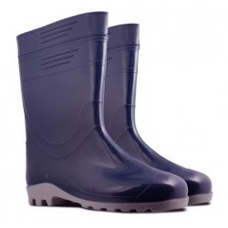 MEN'S WELLING. BOOTS (010),NAVY BLUE, PVC, S. 4 6, KOLMAX