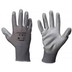 """Handskar poliuretan grå L230208  P, 12   PAIRS, """" 8  """" , CE, LAHTI"""
