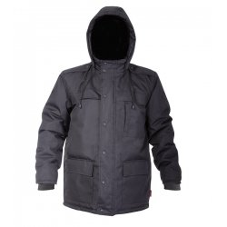 "COAT, PADDED, BLACK, "" M"" , CE, LAHTI"