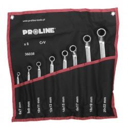 Ringnycklar med offset, 8st (6X7-20X22MM), DIN 838, CV, PROLINE HD
