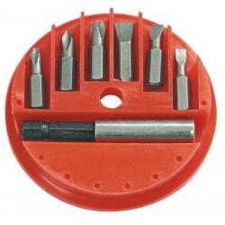 Bits, sats 7st med magnetisk hållare