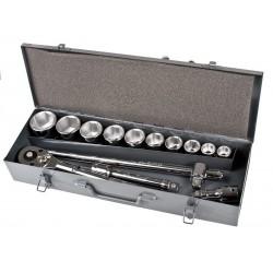 """Hylsnyckelsats 14st, CV 3/4"""", 22-50mm, metallåda, Proline"""