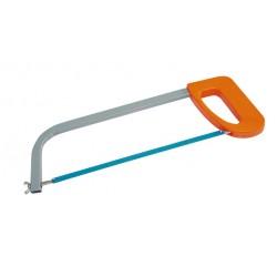 Ram för bågfil 300mm, fyrkantight gråmålad ram, plast orange handtag, UTAN sågblad