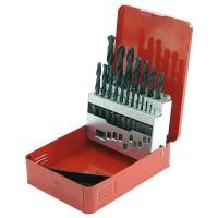 Borrsats 19st HSS borr 1-10mm, röd metallbox