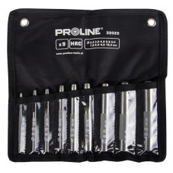 Stans, hålpipa för läder, sats 9st 2.5-10mm HRC, Proline