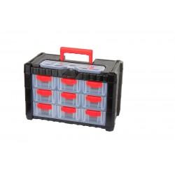 Förvaringsbox, organiser med handtag 13 fack 26x20x40 cm, PROLINE HD