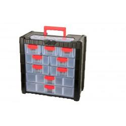 Förvaringsbox, organiser med handtag 22 fack 39.2x20x40 cm, PROLINE HD